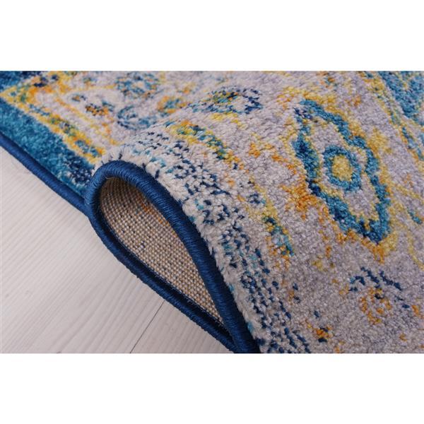 La Dole Rugs® Modena Traditional Area Rug - 4' x 6' - Blue/Multicolour