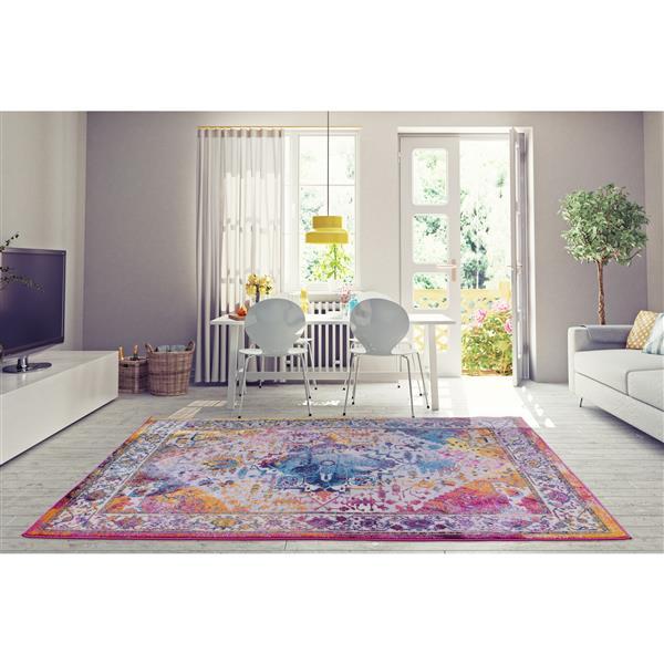La Dole Rugs® Modena Traditional Area Rug - 7' x 10' - Orange/Multicolour