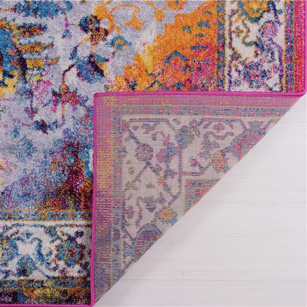 La Dole Rugs® Modena Traditional Area Rug - 5' x 8' - Orange/Multicolour