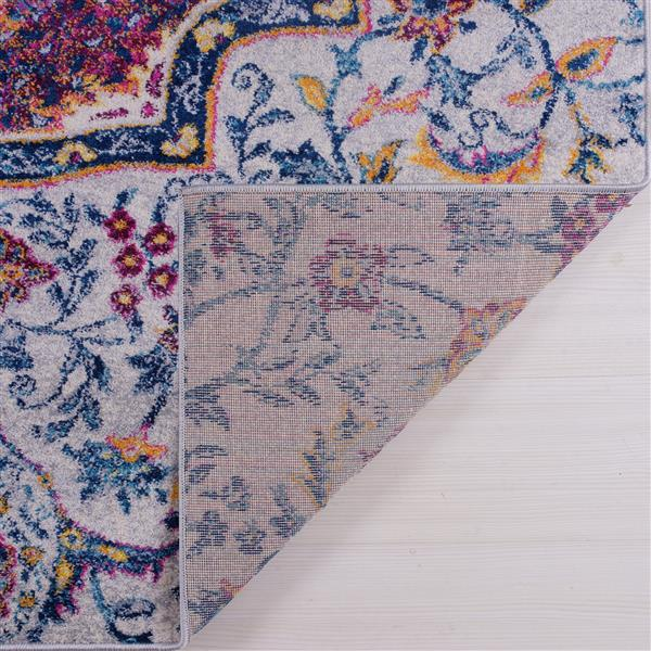 La Dole Rugs® Maya Traditional Big Runner - 3' x 10' - Blue/Pink