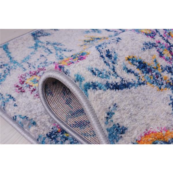 La Dole Rugs® Maya Traditional Small Runner - 3' x 5' - Blue/Pink