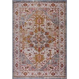 Gracie Traditional Big Runner - 3' x 10' - Beige/Teal