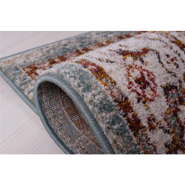 Gracie Traditional Area Rug - 4' x 6' - Beige/Teal
