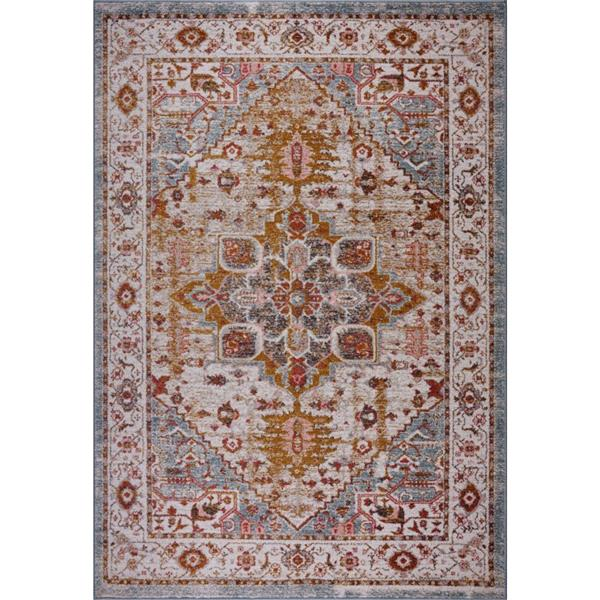 La Dole Rugs®  Gracie Traditional Area Rug - 5' x 8' - Beige/Teal