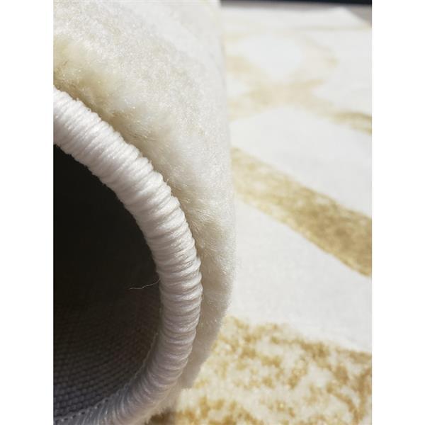 La Dole Rugs®  Geometric Rectangular Area Rug - 5' x 8' - Beige/Cream