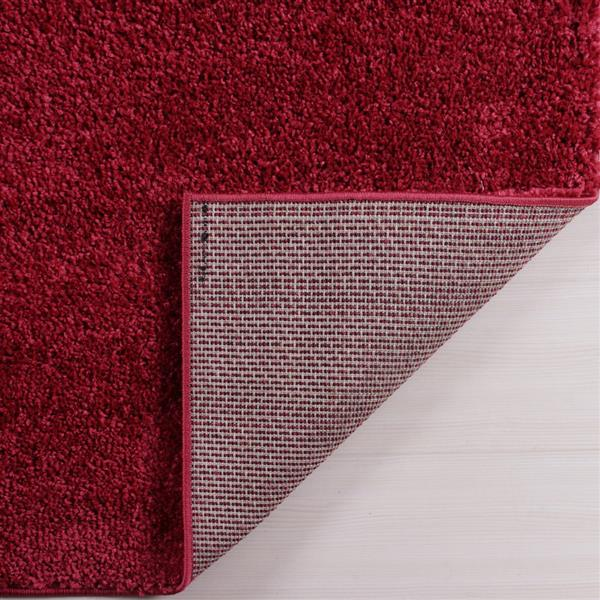 La Dole Rugs® Shaggy Meknes Small Runner - 3' x 5' - Rose