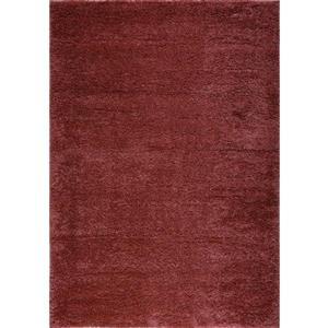 Gros tapis à poil long  «Meknes», 3' x 10', pêche/orange