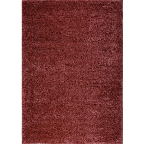 La Dole Rugs® Shaggy Meknes Small Runner - 3' x 5' - Peach/Orange