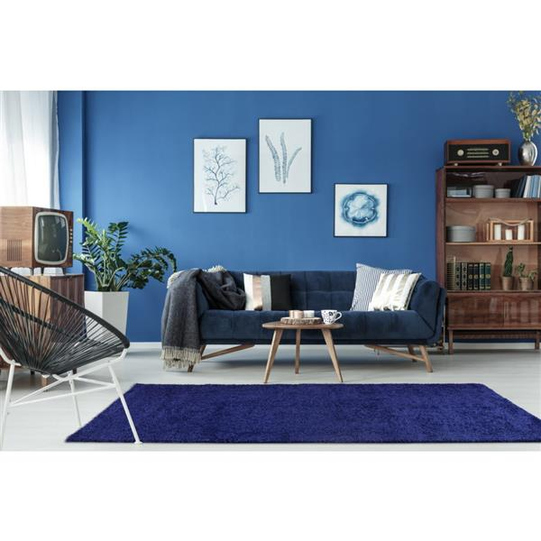 La Dole Rugs® Shaggy Meknes Big Runner - 3' x 10' - Navy Blue