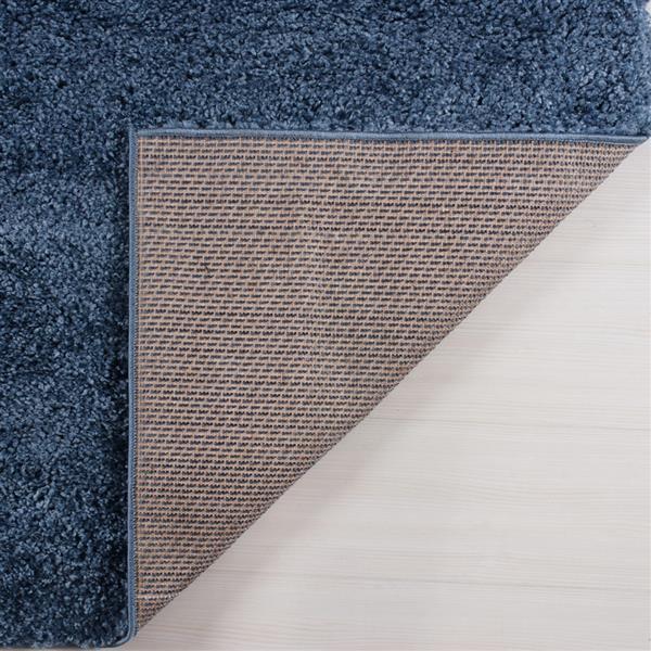 La Dole Rugs® Shaggy Meknes Turkish Area Rug - 4' x 6' - Blue