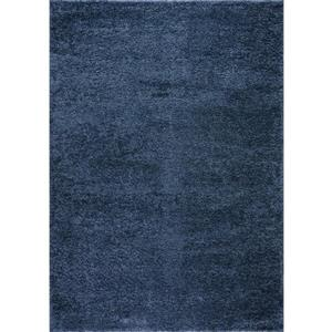 Tapis turque à poil long «Meknes», 7' x 10', bleu