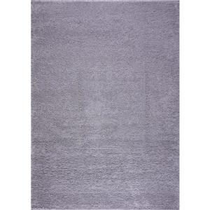 Shaggy Meknes Small Runner - 3' x 5' - Light Grey