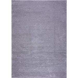 Gros tapis à poil long «Meknes», 3' x 10', gris