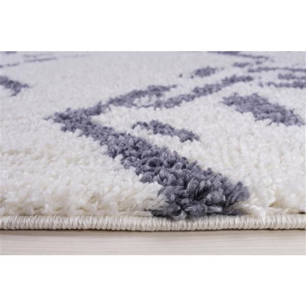 La Dole Rugs® Shaggy Kenitra Abstract Rug - 7' x 10' - White/Grey