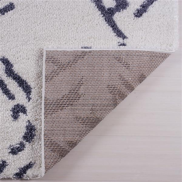 La Dole Rugs® Shaggy Kenitra Abstract Area Rug - 4' x 6' - White/Grey