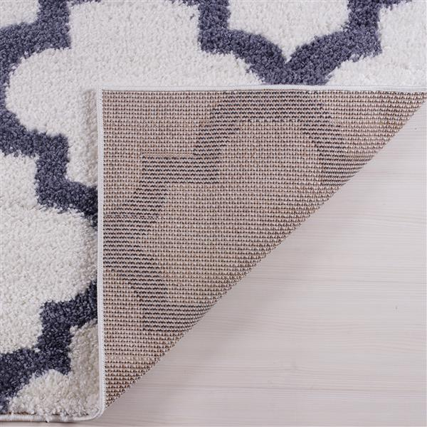 La Dole Rugs® Shaggy Fes Abstract Small Runner Rug - 3' x 5' - Dark Grey