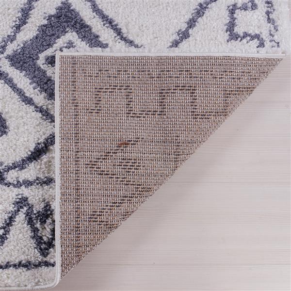 La Dole Rugs® Shaggy Asilah Abstract Runner - 3' x 5' - Dark Grey