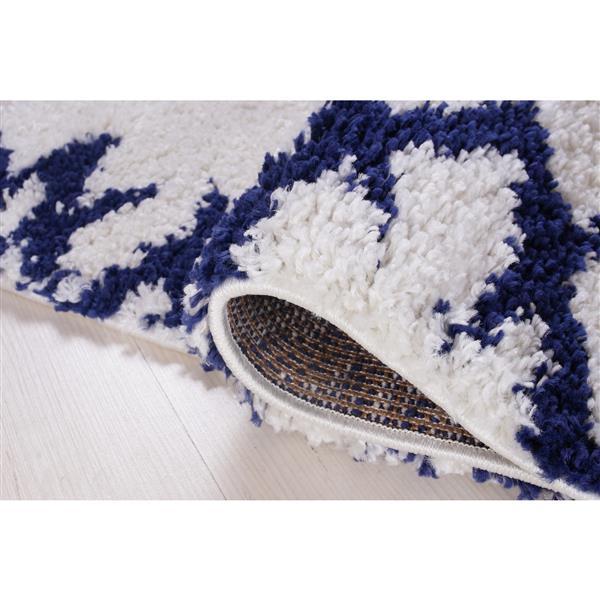 La Dole Rugs® Shaggy Casablanca Abstract Rug - 5' x 8' - Blue/White