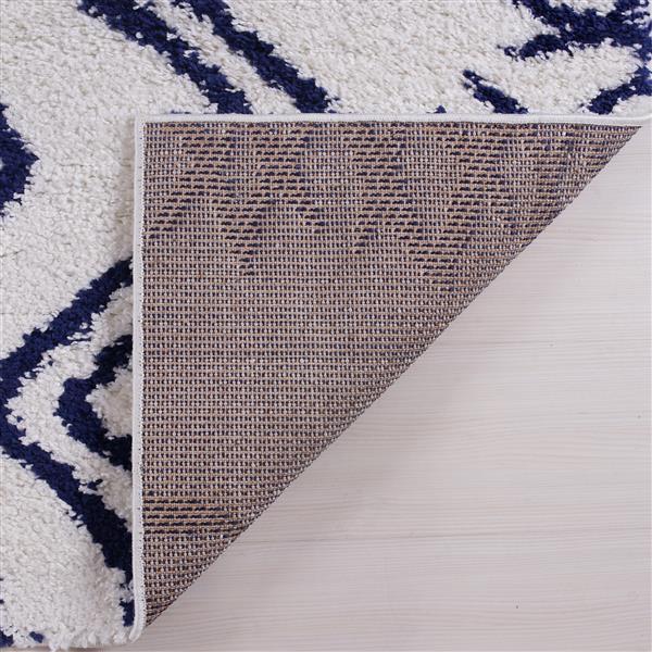 La Dole Rugs® Shaggy Casablanca Abstract Rug - 7' x 10' - Blue