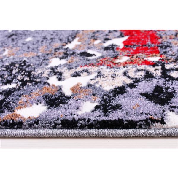 La Dole Rugs®  Grayton Classic Rectangular Area Rug - 7' x 10' - Grey