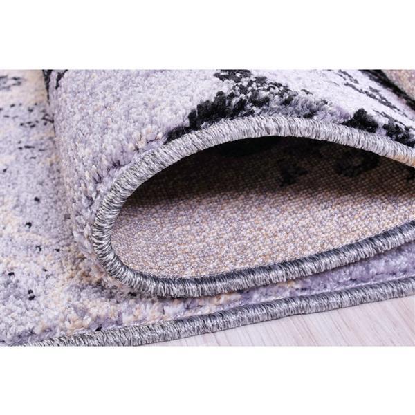 La Dole Rugs® Milan Classic Damask Rectangular Rug - 4' x 6' - Grey