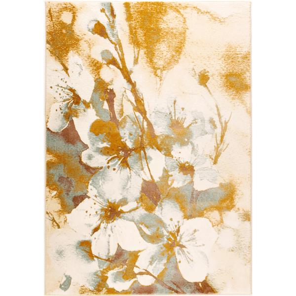 La Dole Rugs® Painting Floral Abstract Area Rug - 7' x 10' - Beige/Cream