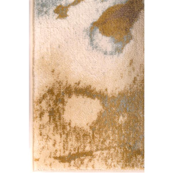 La Dole Rugs® Painting Floral Abstract Area Rug - 8' x 11' - Beige/Cream