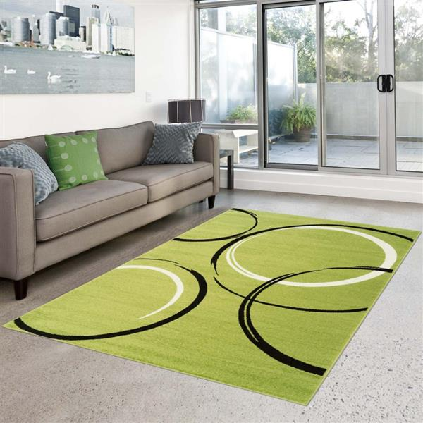 "La Dole Rugs®  Geometric Rectangular Area Rug - 3' 11"" x 5' 3"" - Green"