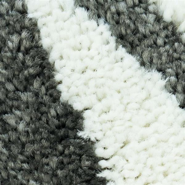 "La Dole Rugs®  Contemporary Rectangular Floral Rug  - 6' 2"" x 9' 2""- Grey"