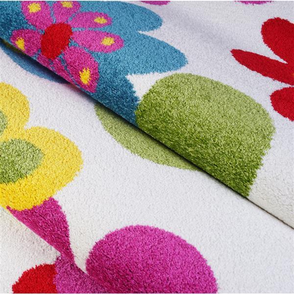 La Dole Rugs®  Floral Rectangular Area Rug - 4' x 6' - Multicolour