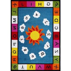 Numéro Alphabets Durable Kids tapis bleu multicolore, 4 x 6