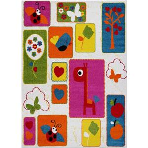 Kids Nature Area Rug - 5' x 7' - Cream/Multicolour
