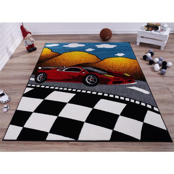La Dole Rugs®  Kids Car and Road Area Rug - 8' x 11' - Multicolour