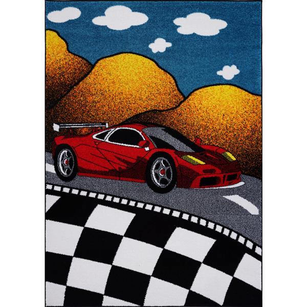 La Dole Rugs®  Kids Car and Road Area Rug - 4' x 6' - Multicolour