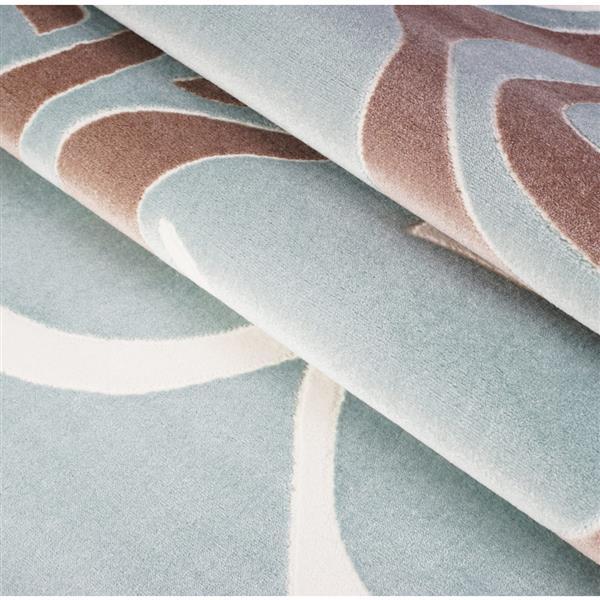 La Dole Rugs® Rose Abstract Rectangular Rug - 8' x 11' - Light Blue