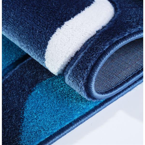 La Dole Rugs® Rose European Rectangular Area Rug - 3' x 10' - Turquoise