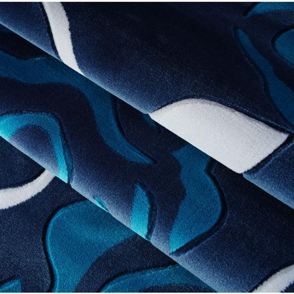 La Dole Rugs® Rose European Rectangular Area Rug - 5' x 8' - Turquoise