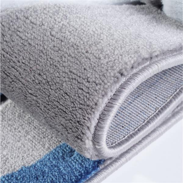 La Dole Rugs® Rose European Rectangular Area Rug, 7' x 10', Grey/Blue