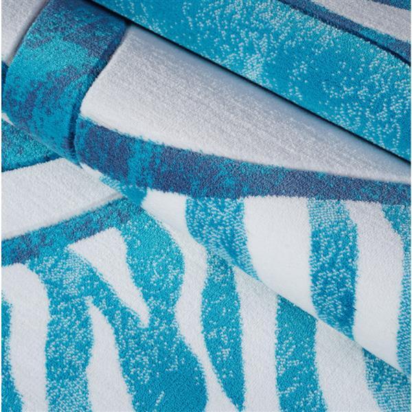 La Dole Rugs® Rings European Geometric Area Rug - 7' x 10' - Blue/White