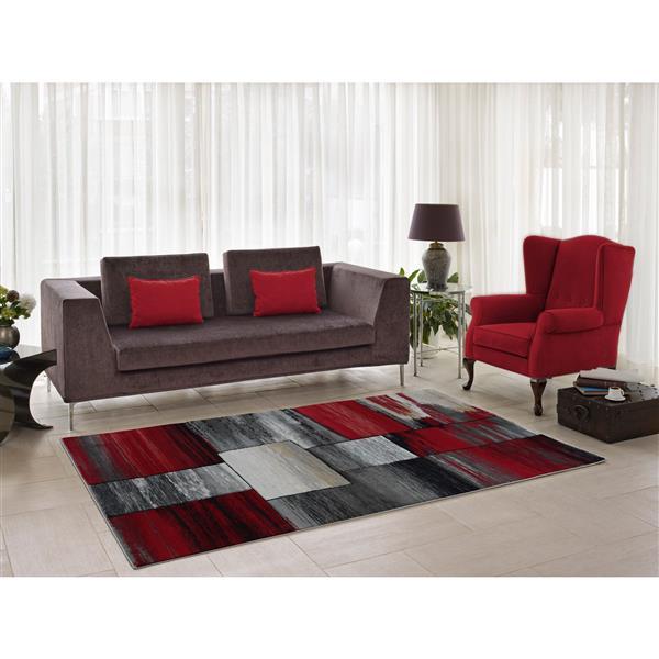 La Dole Rugs®  Copper Currant Geometric Area Rug - 7' x 10' - Grey