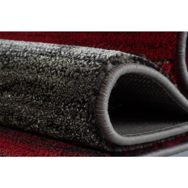 La Dole Rugs®  Copper Currant Geometric Runner Rug - 3' x 10' - Grey