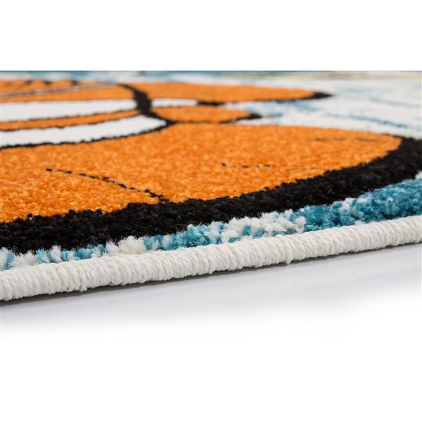 "La Dole Rugs®  Kids Fish and Sea Area Rug - 3' 9"" x 5' 2"" - Multicolour"