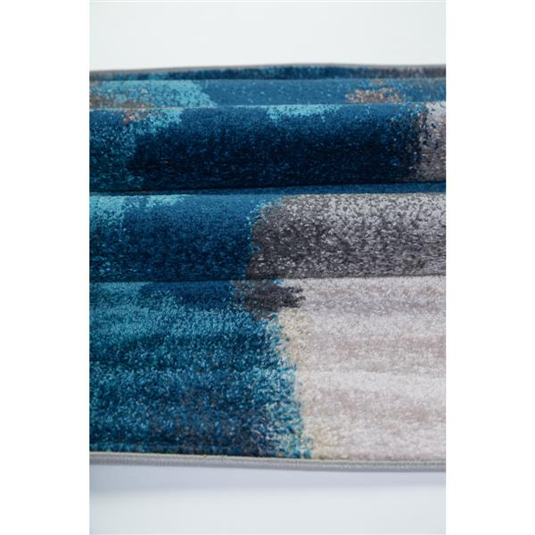 La Dole Rugs®  Innovative Rectangular Abstract Rug - 5' x 8' - Cream/Grey