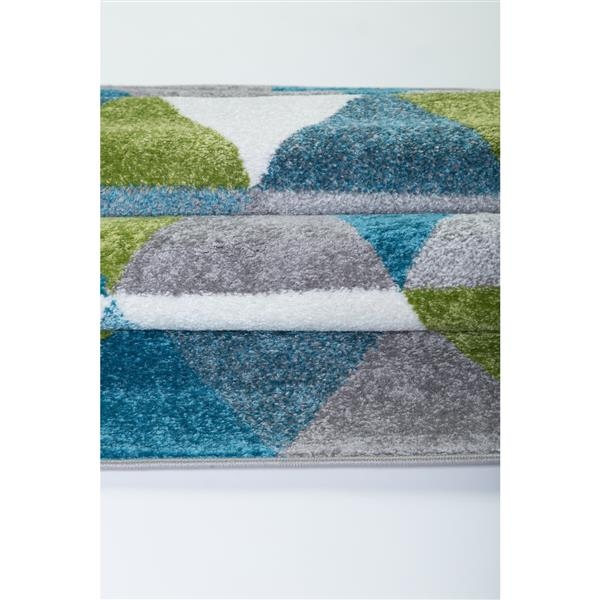La Dole Rugs®  Geometric Empire Triangle Area Rug - 4' x 6' - Green/Blue