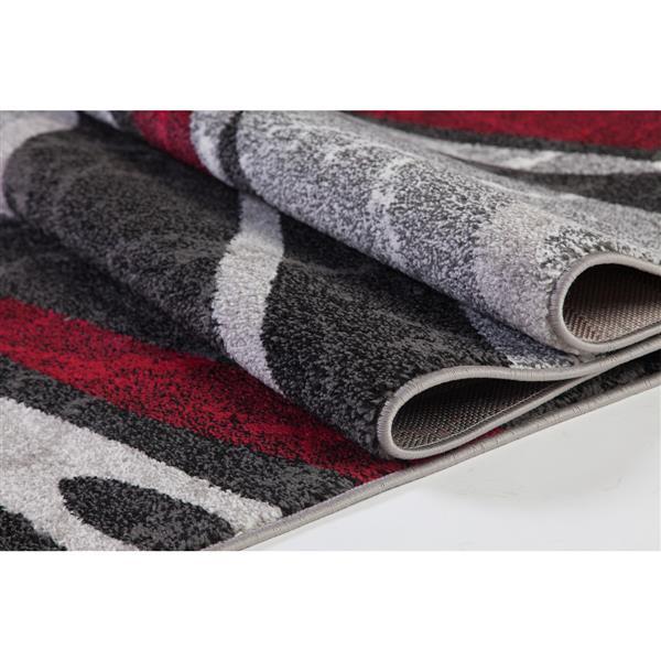 La Dole Rugs®  Innovative Spiral Abstract Area Rug - 5' x 8' - Grey/Black
