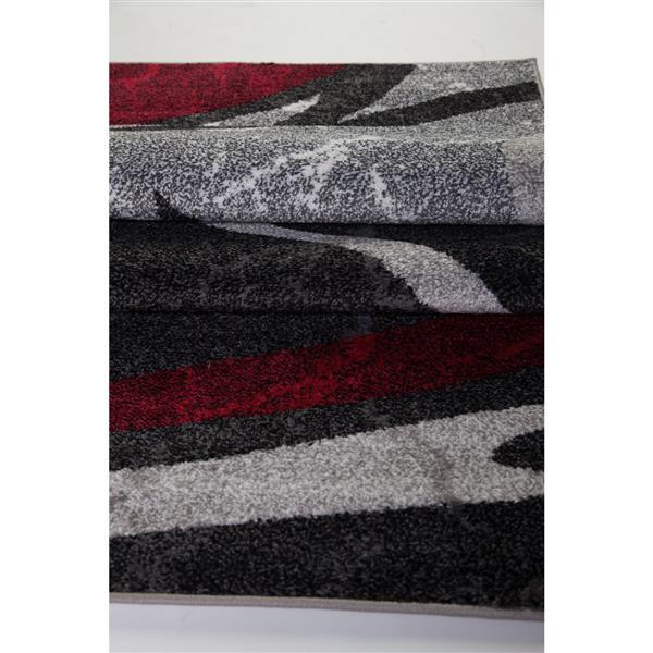 La Dole Rugs®  Innovative Spiral Abstract Area Rug - 8' x 11' - Grey/Black