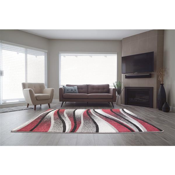 La Dole Rugs® Waves Abstract Rectangular Area Rug - 7' x 10' - Ivory