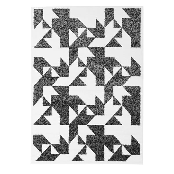 La Dole Rugs® Modern Contemporary Area Rug - 4' x 6' - Black/White