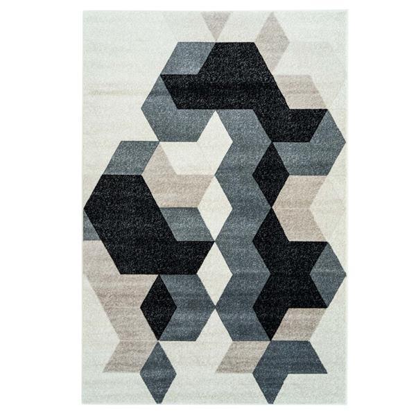 La Dole Rugs® Sultan Geometric Rectangular Rug - 7' x 10' - Black