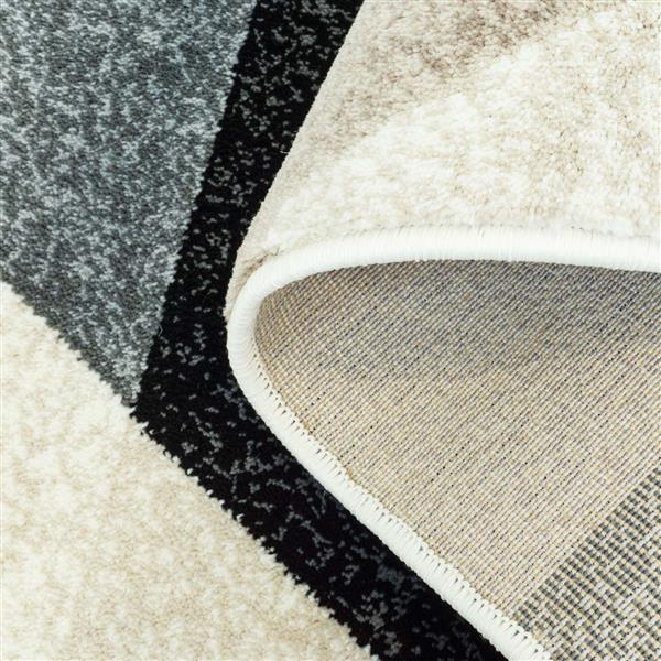 La Dole Rugs® Sultan Geometric Rectangular Rug - 8' x 11' - Black